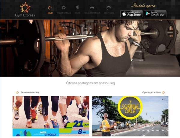Criação de sites - Gym Express
