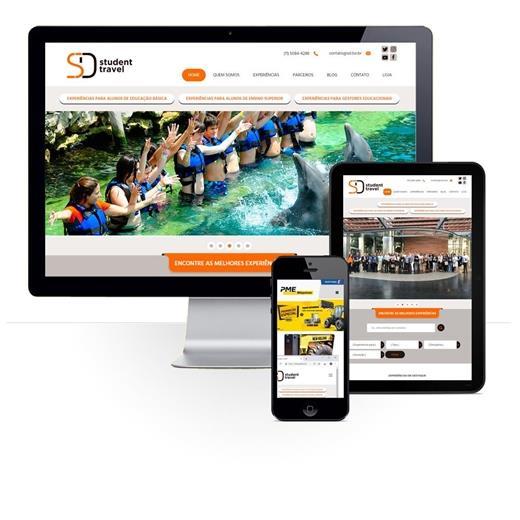 Layout responsivo do projeto de criação de sites: