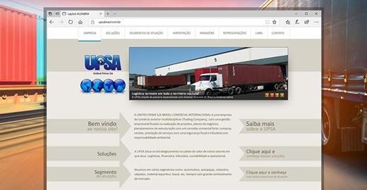 Criação de sites - UPSA Brasil