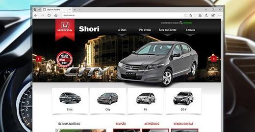 Criação de sites - Shori - Concessionária Honda