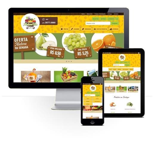 Layout responsivo do projeto de criação de sites: Comportamento responsivo da loja virtual - NaturaVix