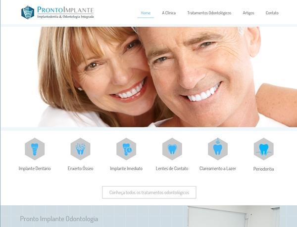 Criação de sites - Pronto Implante