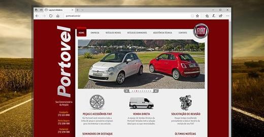 Criação de sites - Portovel Veículos