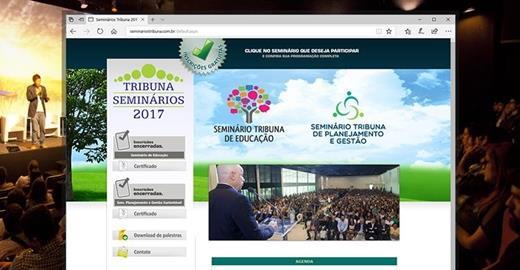 Criação de sites - Seminários Tribuna