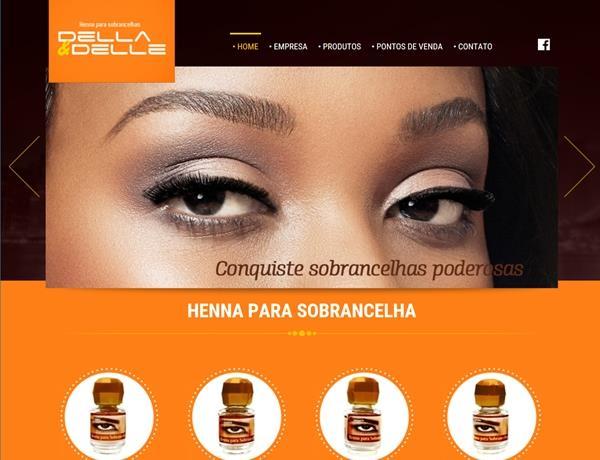 Criação de sites - Henna Della & Delle