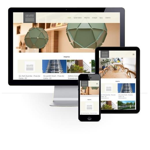 Layout responsivo do projeto de criação de sites: Layout responsivo site Abaurre Arquitetura