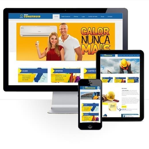 Layout responsivo do projeto de criação de sites: Simulação do comportamento responsivo do site