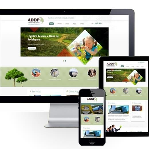 Layout responsivo do projeto de criação de sites: Simulação do layout em diferentes dispositivos