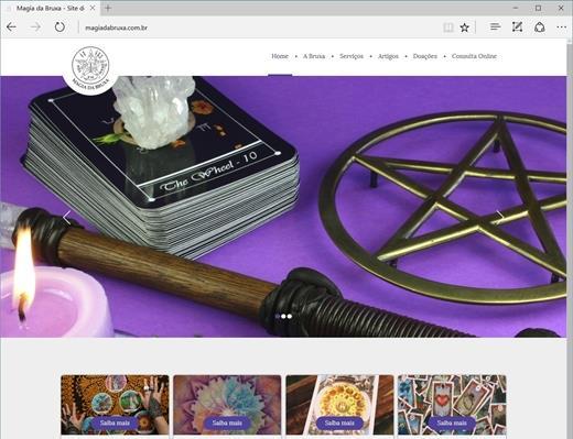 Criação de sites - Magia da Bruxa