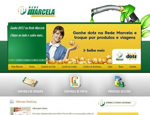Criação de sites - Rede Marcela de Postos
