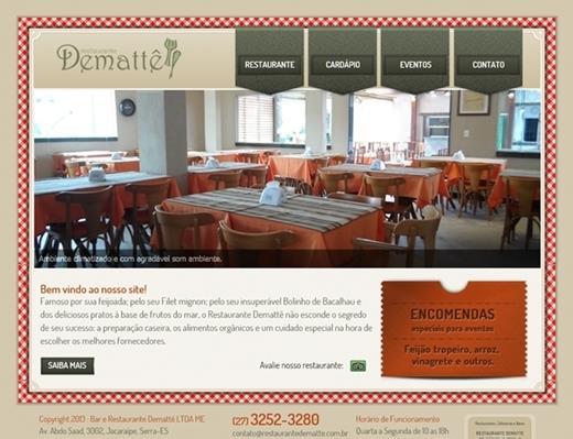 Criação de sites - Restaurante Demattê