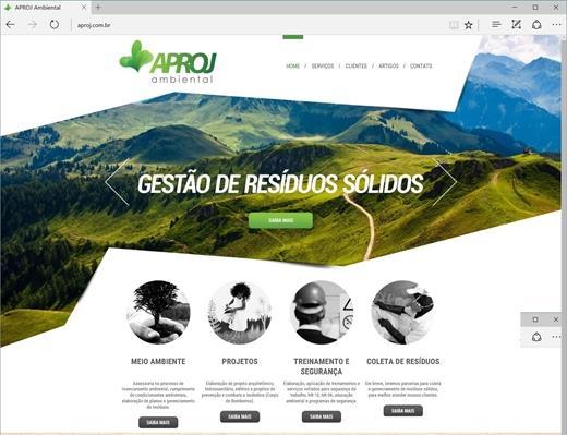 Criação de sites - Aproj Ambiental