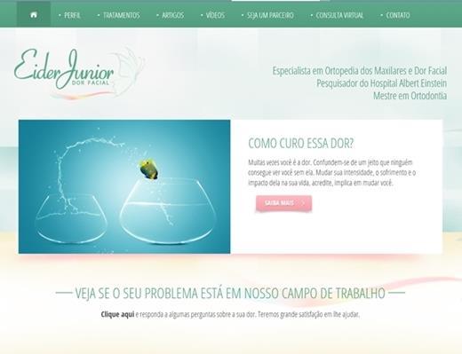 Criação de sites - Eider Junior - Dor Facial