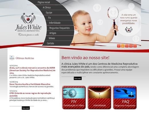 Criação de sites - Jules White Medicina Reprodutiva