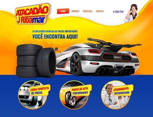 Criação de sites - Atacadão J Ribamar
