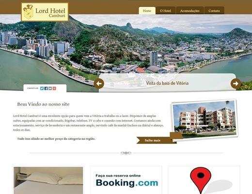 Criação de sites - Hotel Lord Camburi