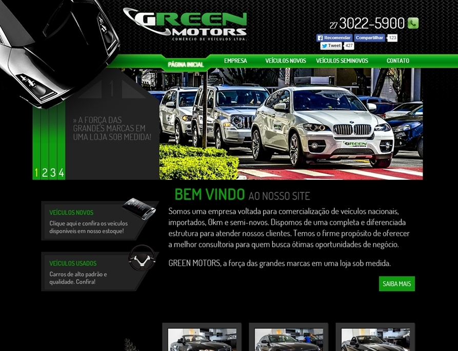 Criação de sites - Greenmotors Online