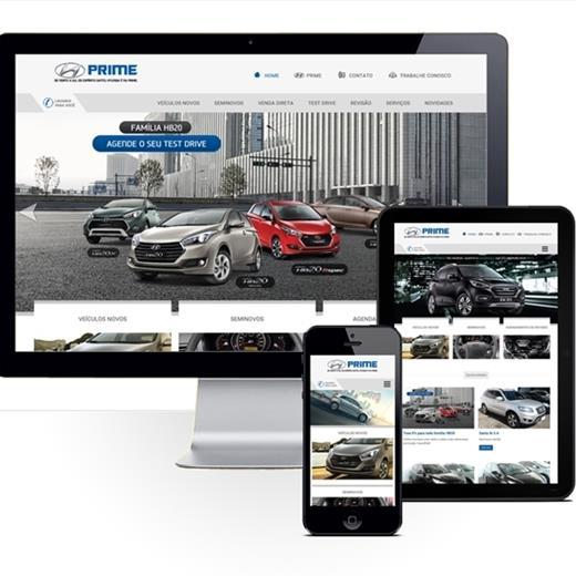 Layout responsivo do projeto de criação de sites: Comportamento responsivo do site - Prime Hyundai