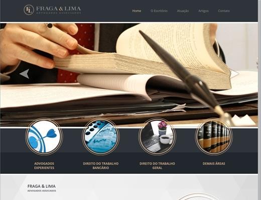 Criação de sites - Fraga e Lima Advogados