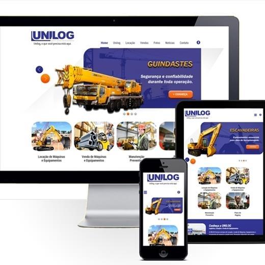 Layout responsivo do projeto de criação de sites: Layout responsivo do site da Unilog