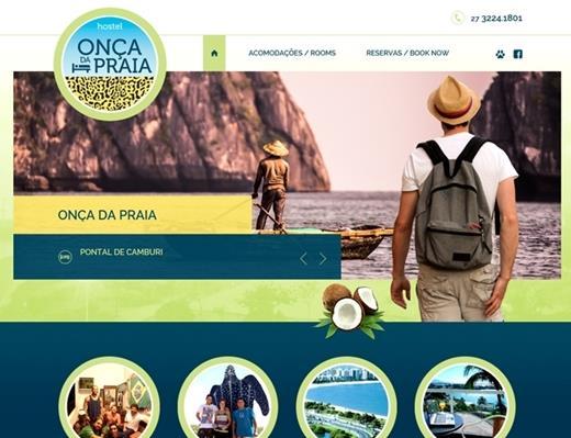 Criação de sites - Onça da Praia Hostel