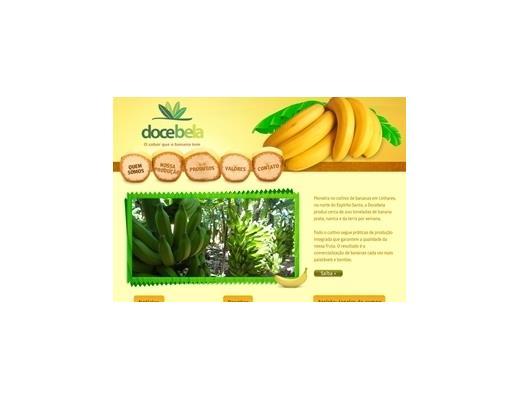 Criação de sites - Docebela - O sabor que a banana tem