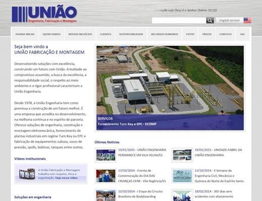 Criação de sites - União Engenharia