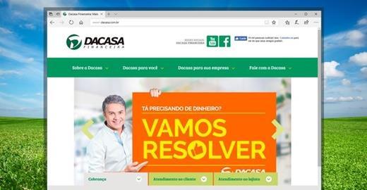 Criação de sites - Dacasa Financeira