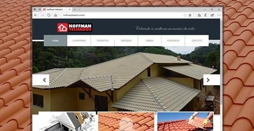 Criação de sites - Hoffman Telhados