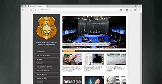 Criação de sites - Sindaspes