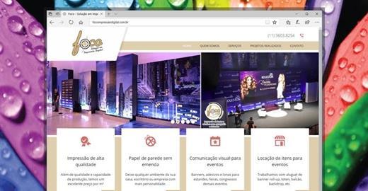 Criação de sites - Foco Impressão Digital