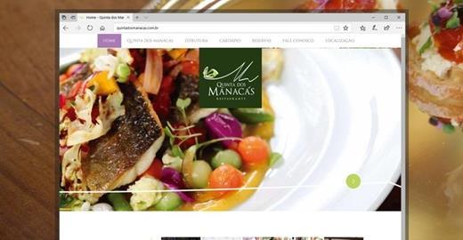 Criação de sites - Quinta dos Manacás