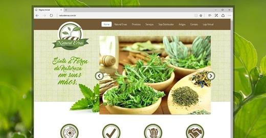 Criação de sites - Natural Ervas Institucional