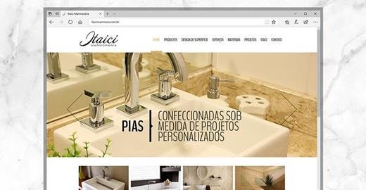 Criação de sites - Itaici Mármores