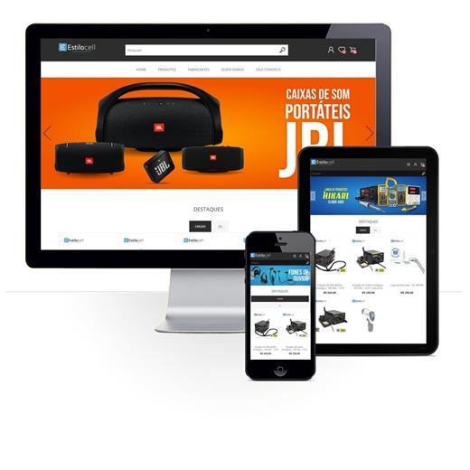 Layout responsivo do projeto de criação de sites: Layout responsivo do e-commerce Estilo Cell