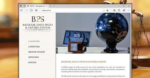 Criação de sites - BDPOS Advogados Associados
