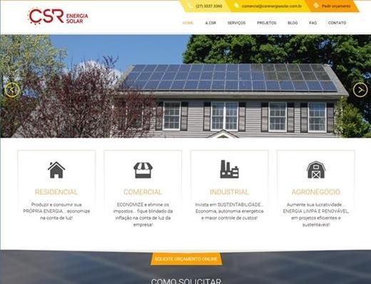 Criação de sites - CSR Energia