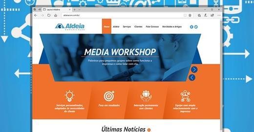 Criação de sites - Aldeia Comunicação