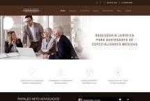 Papaleo Neto Adv: Website criado pela ALDABRA