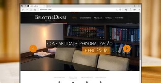 Criação de sites - Belotti & Dines Advogados