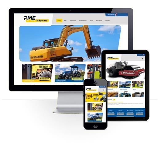 Layout responsivo do projeto de criação de sites: Página da marca New Holland com a diagramação das informações