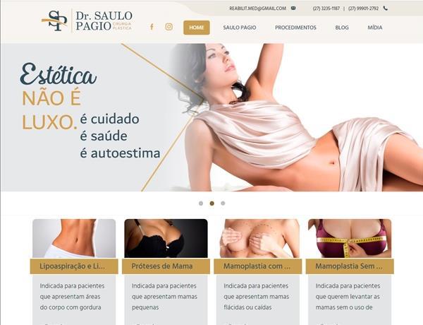 Criação de sites - Saulo Pagio Cirurgia Plástica