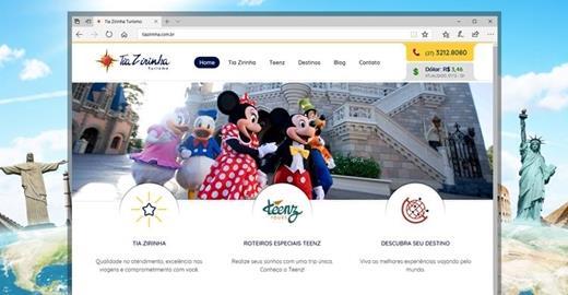 Criação de sites - Tia Zirinha Turismo