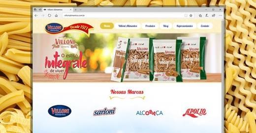 Criação de sites - Villoni Alimentos