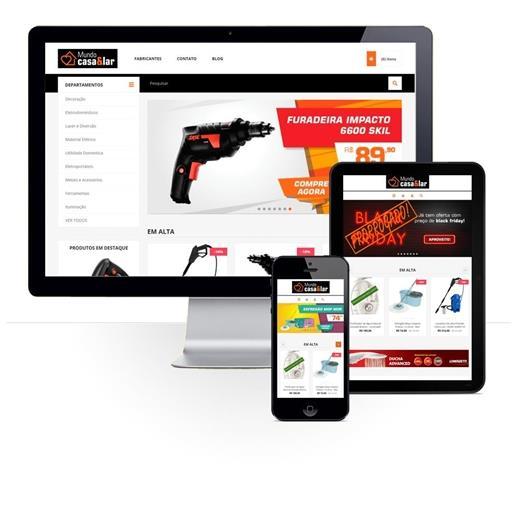 Layout responsivo do projeto de criação de sites: Layout responsivo do e-commerce Mundo Casa&Lar
