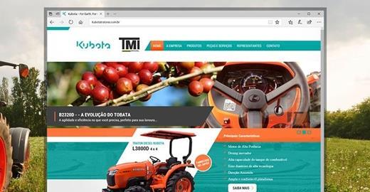 Criação de sites - Kubota Tratores