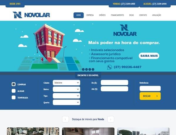 Criação de sites - Novolar Imóveis