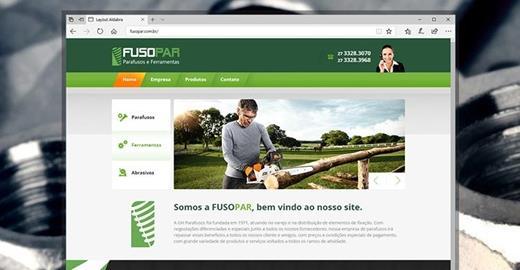 Criação de sites - Fusopar Parafusos e Ferramentas