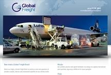 Global Freight Brasil: Website criado pela ALDABRA