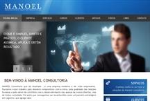 Manoel Consultoria: Website criado pela ALDABRA